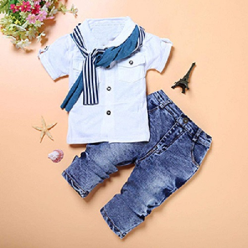 Baby Boy Dress T-shirt + Jeans